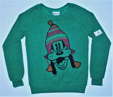 Disney Parks Authentic Original Vtg 90s Goofy Green Pullover Sweater - Xs (Nos)