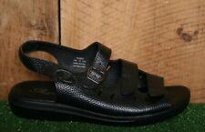 PROPET 'Breeze Walker' Black Leather Slingback Comfort Sandals Sz. 9.5 EE