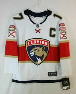 Fanatics NHL Florida Panthers Jersey Derek MacKenzie #17 Youth S/M White