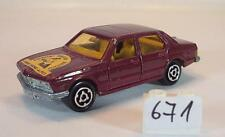 Majorette 1/60 no 256 BMW 733 Sedan rotmetallic Ligue Rhone Alpes No. 4 #671
