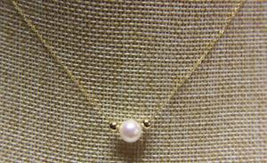 "18""9-10mm natural south sea genuine white pearl neckace pendant"