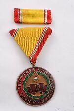 Hungary Hungarian Medal 10 Years Military Service Communist Exemplary Army Air