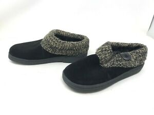 Womens Clarks (ICL31459A) Augusta Black/Brown Slippers (420J)