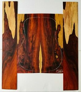 Cocobolo Rosewood Back and Side Acoustic Guitar Set c11 | Quality Luthier Supply