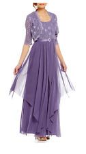 Women's Formal Jacket Dresses 14W fits Sizes 14-16 Mother of Bride Purple Dress