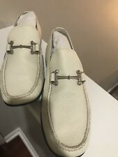 Bally Dress shoes white preowned size US 10.5, made in Switzerland, with bags.