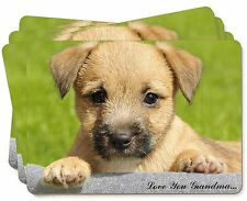 Border Terrier Pup 'Love You Grandma' Picture Placemats in Gift Box, AD-BT4lygP