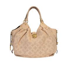 Louis Vuitton XL Mahina Monogram Taupe Leather Hobo Bag, Golden Hardware