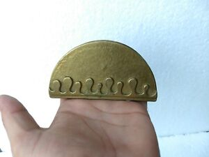 Vintage Brass Bronze Beer Coaster Holder Rare Collectible Diwali Home Decor