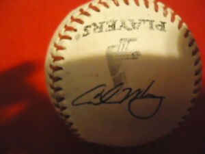 Chicago White Sox Carlos May Autographed Leather Baseball Not Authenticated