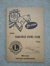 1963 Earlville Illinois Lions Club National Zip Code Book