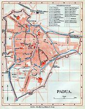 Pianta di Treviso.Carta Topografica,Geografica.Stampa Antica + Passepartout.1891