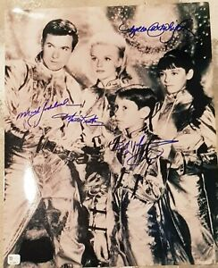 LOST IN SPACE SIGNED BY ALL 4 11X14 PHOTO & TOPLOADER COA