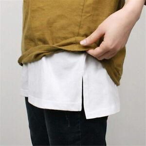 Girls Shirt Fake Mini Skirt False Hem Bottom Down Waist Short Skirt For Women ZH