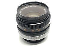 Canon FD SC 50mm F 1.8 Lens Fast Sharp Clean Manual Prime