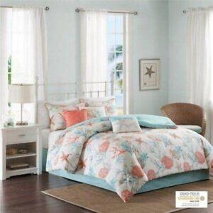 Madison Park Pebble Beach 7 Piece Cotton QUEEN Comforter Set