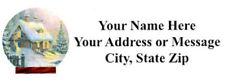 """60 Personalized  SnowGlobe  Address Labels  1"""" x 2.625""""  FREE USA SHIPPING"""