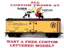 Ho Custom Lettered New York Ontario & Western Boxcar Reefer Lot B