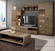 "TV Wall Unit ""LENA"" Set of Living room Furniture /4 piece wall unit/LED lighting"