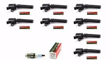 8 Ignition Coil DG515 + 8 Motorcraft Spark Plug SP468 Ford Lincoln Jaguar V8
