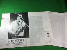Tom Scott article / review / feature press cutting saxophone jazz rock fusion