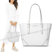 NWT 💎 Michael Kors Aria Leather Large Pebbled Leather Shoulder Bag Optic White