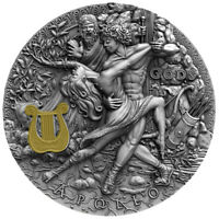 APOLLO God Of The Sun Gods 2 Oz Silver Coin 2$ Niue 2020