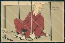 Personaggio Gabriele D'Annunzio Umoristica Micheletti cartolina XF6917
