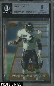 1996 Bowman's Best #164 Ray Lewis Ravens RC Rookie BGS 9 w/ 9.5