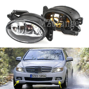 For Mercedes Benz 2007-2012 W211 E350 E550 Front Fog Lights Lamp With Bulb Pair