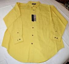 Mens Blue Ridge Mountain Classic Sports Wear L lg Long Sleeve shirt yellow Nwt