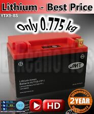 Lightweight motorcycle lithium battery ONLY 775g Replace YTX9-BS MF AGM LiFePO
