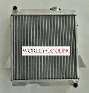 56mm 3Row Aluminum Radiator For 1969-1974 Triumph TR6 2.5L Manual MT