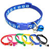1PC Cute Charm Dog Cat Puppy Safety Bell Buckle Neck Strap  Pet Printed Collars