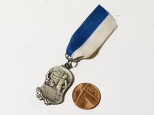 Antique 1926 Silver Medal VIII BOXING Champion Geneva Swiss Switzerland #M4*