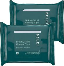 Belei Hydrating Facial Cleansing Wipes, Ophthalmologist Tested, Fragrance Free