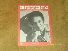 Merle Haggard sheet music The Fightin' Side of Me '70 4 pages (NM shape)