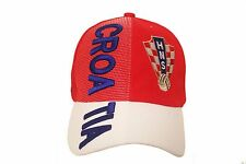 CROATIA RED WHITE HNS LOGO FIFA SOCCER WORLD CUP EMBOSSED HAT CAP .. NEW