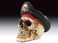 Pirate Captain Skull Figurine Statue Skeleton Halloween