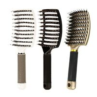Boar Bristle Hair Brush-Curved And Vented Detangling Hair Brush For Women L Z7Q1
