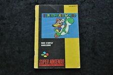 Super Mario World Nintendo Snes Manual