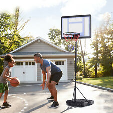 Basketball Stand and Hoop Backboard Adjustable w/ Wheels