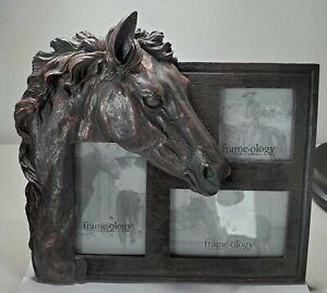 FRAMEOLOGY EQUESTRIAN 3D HORSE HEAD FRAME ANTIQUE INSPIRED