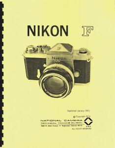 Nikon F Illustrated Service & Repair Manual (NatCam) Reprint
