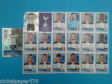 Topps Champions League 2016-17 2017 Team Tottenham Hotspur 2016 2017 completo
