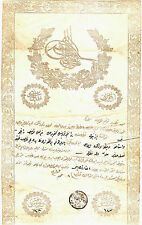 INTERESTING OTTOMAN DOCUMENT 1285 AH (1868 AD) LAND OWNERSHIP (TABO): ba