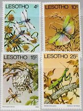 LESOTHO 1978 262-65 Insects Insekten Fauna Dragonfly Grasshopper Wasps MNH