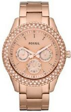 Fossil ES3003 Ladies Stella Stainless Steel Watch - Rose Gold Tone