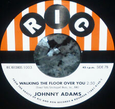 """* * 1500 PRESSED! UNISSUED """"WALKING THE FLOOR OVER YOU"""" JOHNNY ADAMS MINT 45!"""