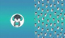 "Jersey Eigenproduktion "" Pinguin Party "" Panel - Pinguine - Kinderstoff Emmilove"